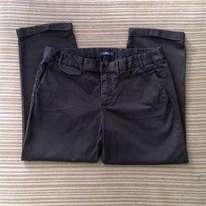 GAP Black Stretch Ankle Pants Size 6
